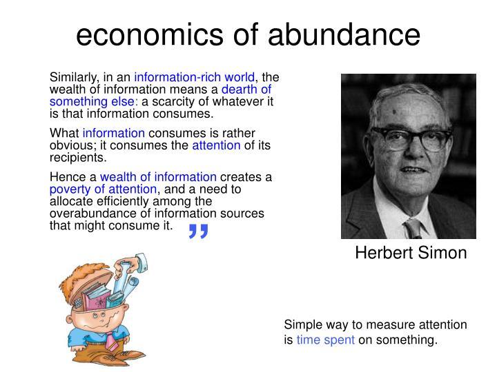 economics of abundance