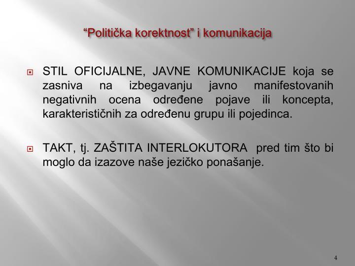 """""""Politička korektnost"""" i komunikacija"""