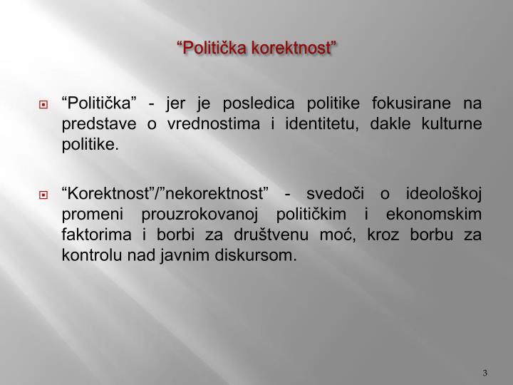 """""""Politička korektnost"""""""