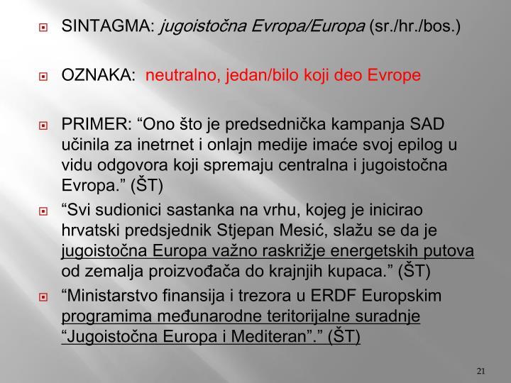 SINTAGMA: