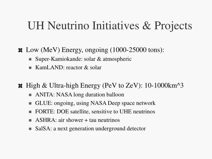 UH Neutrino Initiatives & Projects