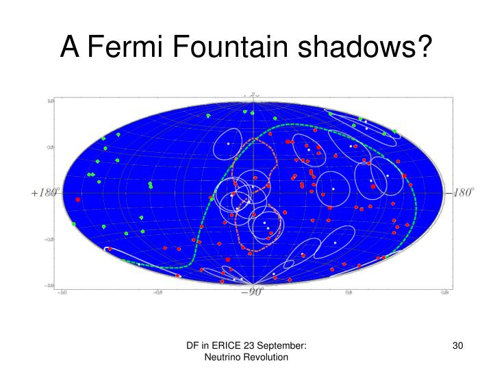 A Fermi Fountain shadows?