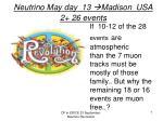 neutrino may day 13 madison usa 2 26 events