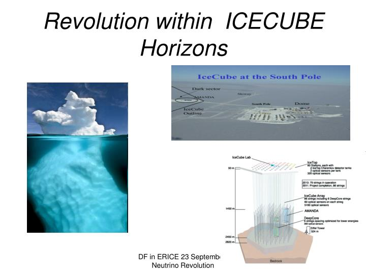 Revolution within icecube horizons