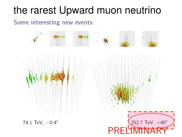 the rarest Upward muon neutrino