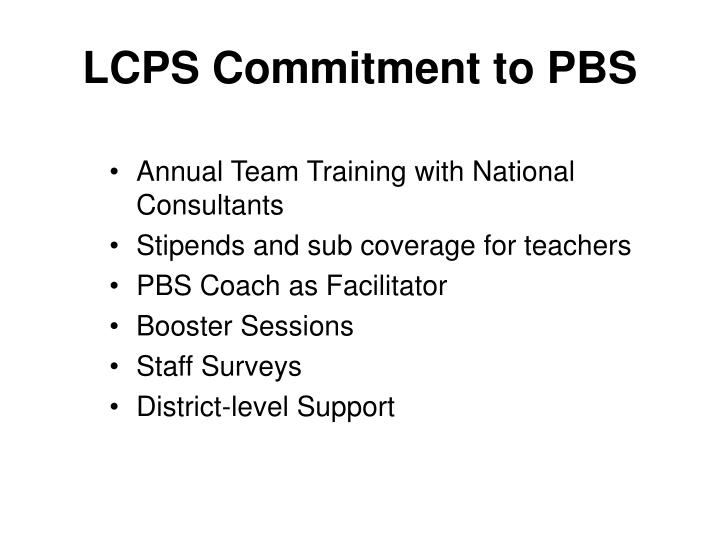 LCPS Commitment to PBS