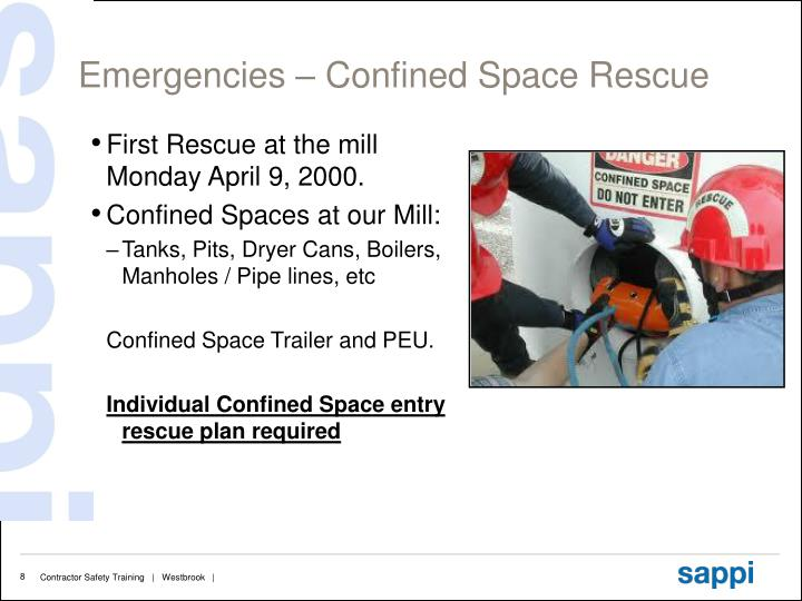 Emergencies – Confined Space Rescue