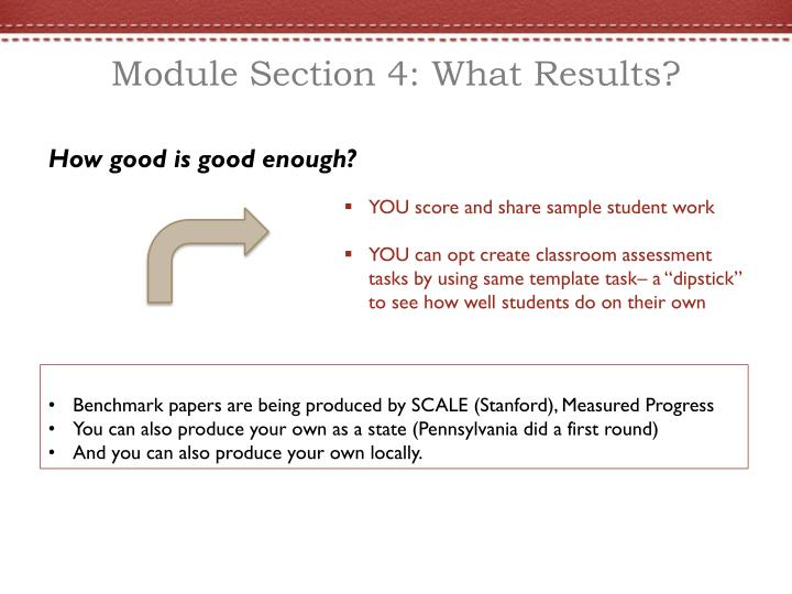 Module Section 4: What Results?