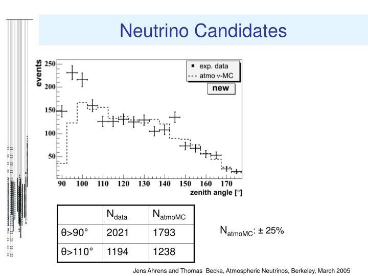Neutrino Candidates