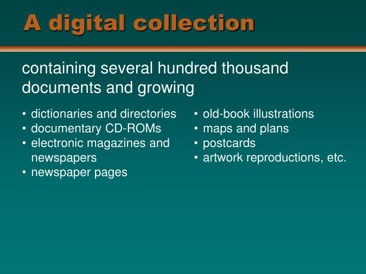 A digital collection