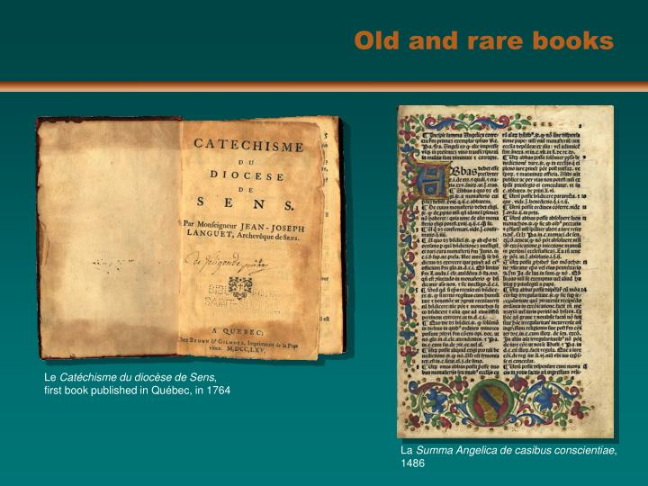 Old and rare books