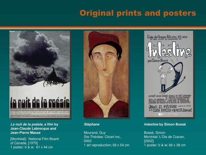 Original prints and posters