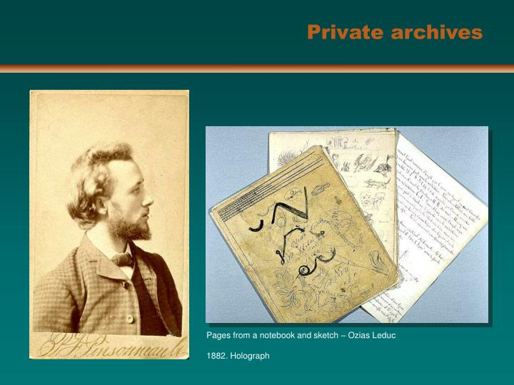 Private archives