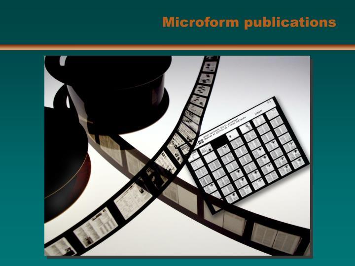 Microform publications