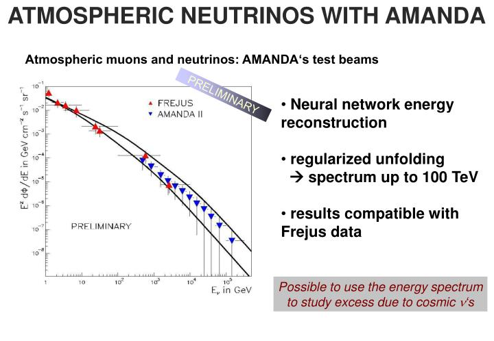 ATMOSPHERIC NEUTRINOS WITH AMANDA