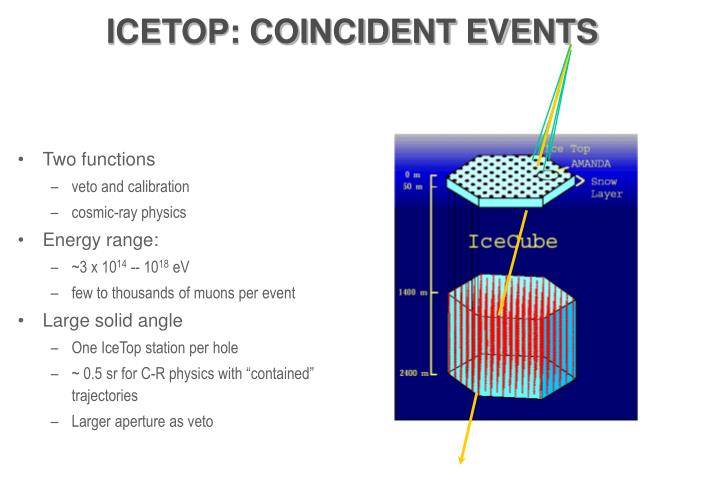 ICETOP: COINCIDENT EVENTS