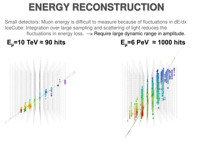 ENERGY RECONSTRUCTION