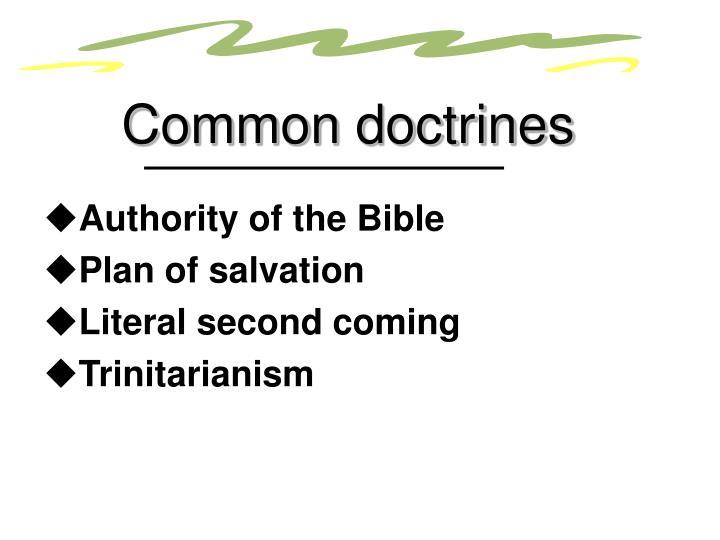 Common doctrines
