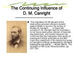 the continuing influence of d m canright