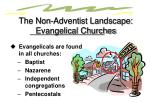 the non adventist landscape evangelical churches2