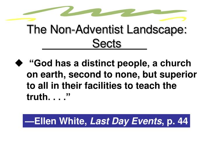 The Non-Adventist Landscape: Sects