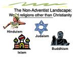 the non adventist landscape world religions other than christianity