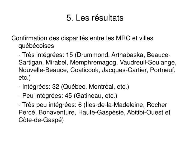 5. Les résultats