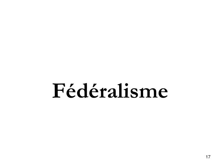 Fédéralisme