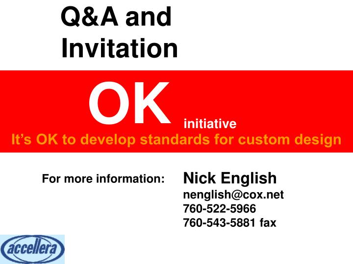 Q&A and