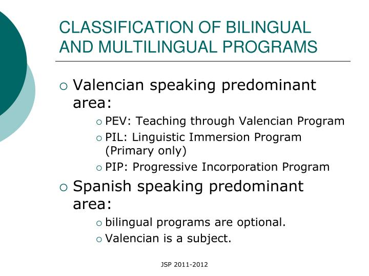 CLASSIFICATION OF BILINGUAL