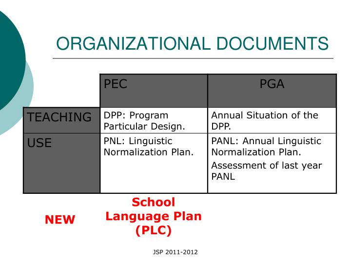 ORGANIZATIONAL DOCUMENTS
