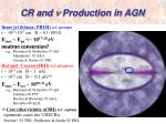 cr and n production in agn