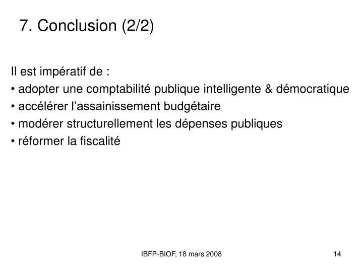 7. Conclusion (2/2)