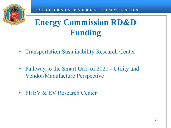 Energy Commission RD&D Funding