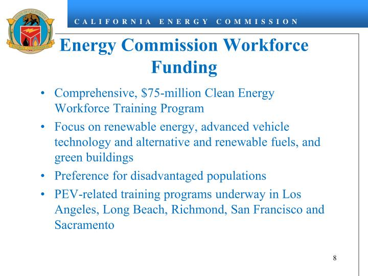 Energy Commission Workforce Funding