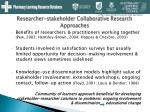 researcher stakeholder collaborative research approaches