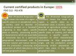current certified products in europe 1026 pdo 512 pgi 478