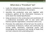 what does a presidium do