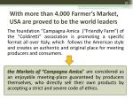 with more than 4 000 farmer s market usa are proved to be the world leaders