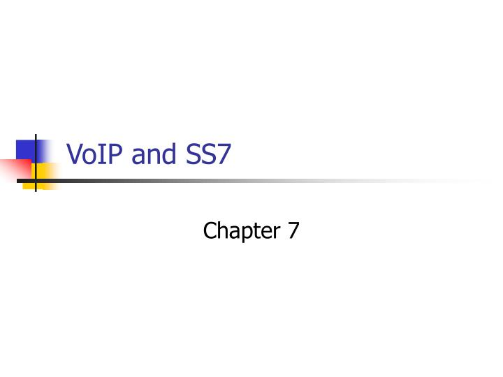 voip and ss7