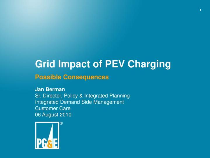 grid impact of pev charging