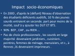 impact socio conomiques