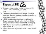 types of pe
