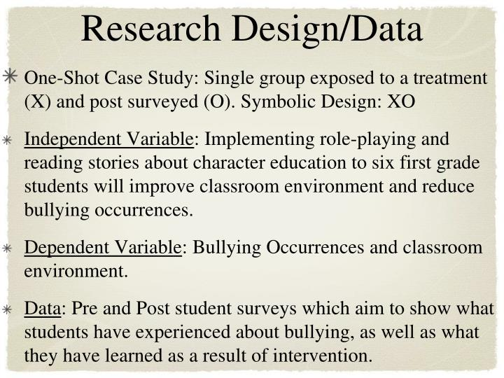 Research Design/Data