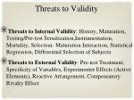threats to validity