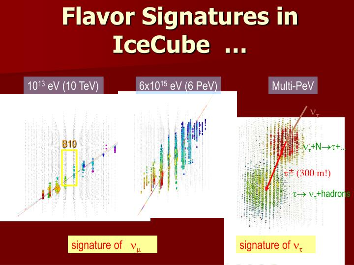 Flavor Signatures in IceCube