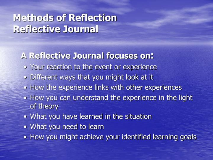 Methods of Reflection