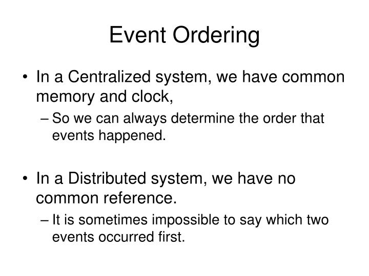 Event Ordering