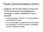 faulty communications cont