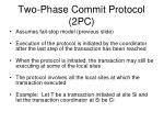 two phase commit protocol 2pc